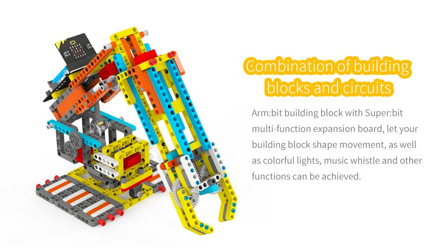 Programmable Toy STEM Building Block Yahboom Arm:bit based with Micro:bit compatible with LEGO