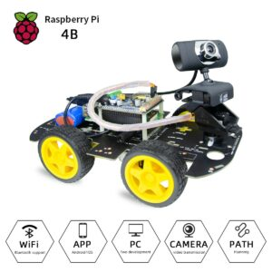 Rapberry Pi 4 Wifi DS Robot Car Kit with Rpi 4 2GB