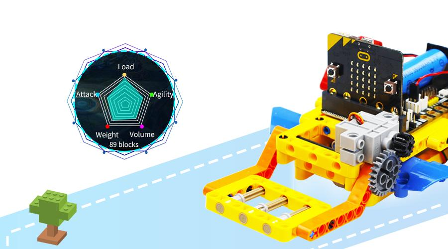 STEM Buliding Block programmable Toy Yahboom Running:bit based on Micro:bit compatible with LEGO