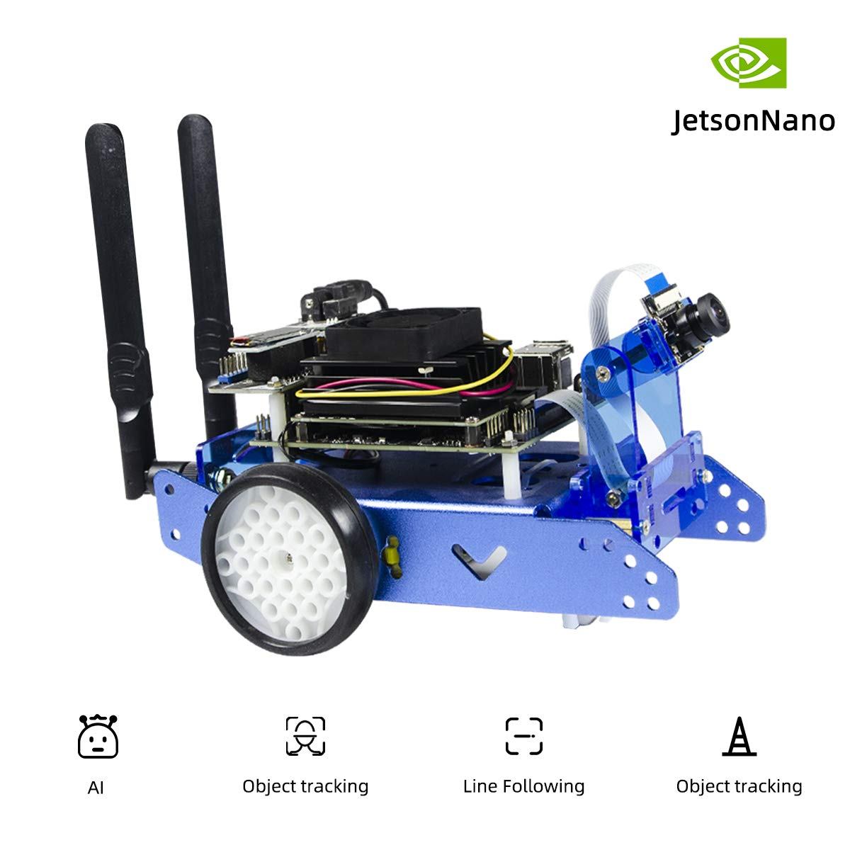 JetBot AI Kit Accessories Add-ons Compatible with NVIDIA Jetson Nano Developer Kit to Build JetBot