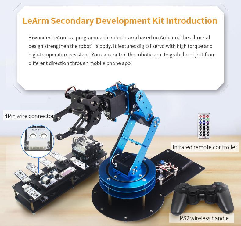 6DOF Robotic Arm LeArm for STEAM Education