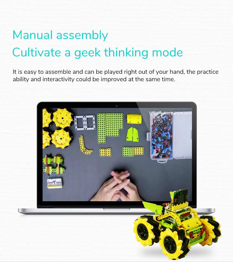 Microbit Robot Car STEM Building Toy Wonder Rugged Car