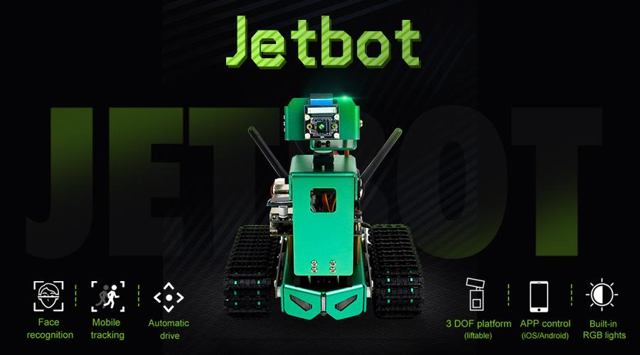 Jetbot AI robot with HD Camera Coding with Python for Jetson Nano