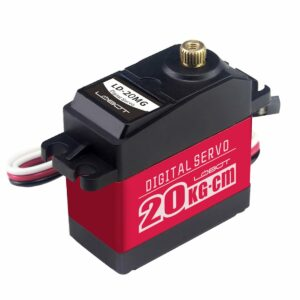LD-20MG Full Metal Gear Digital Servo with 20kg High Torque, Aluminium Case for Robot RC Car