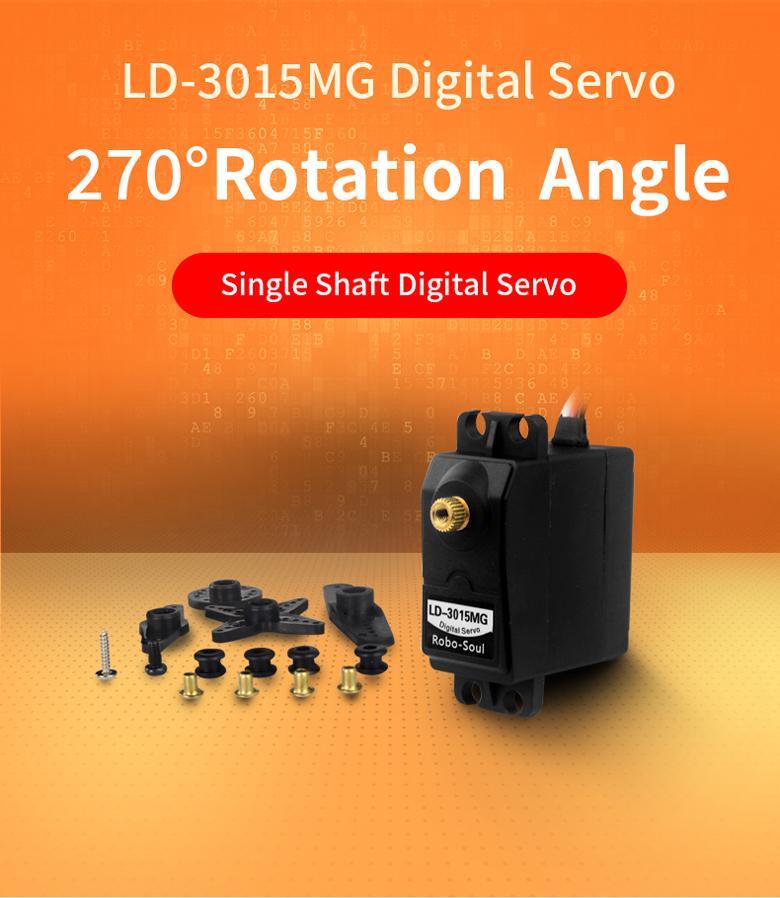 LD-3015MG Full Metal Gear Digital Servo Motor with 17kg High Torque for RC Robot Car