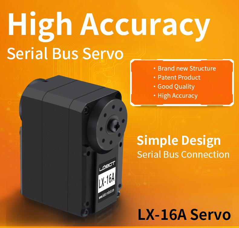 LX-16A Full Metal Gear Serial Bus Servo Motor Control Angle 240 17kg with Real-Time Feedback Function for RC Robot
