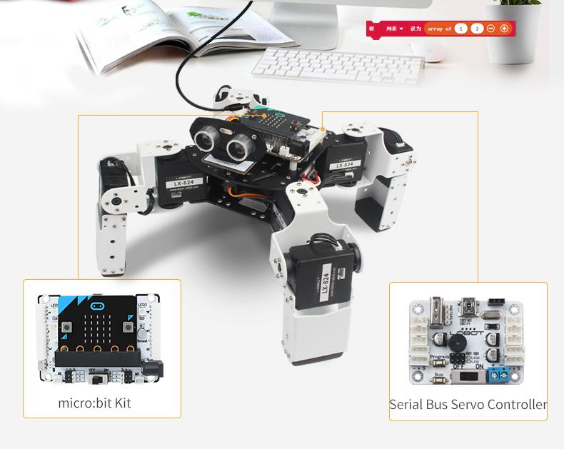 Micro:bit Alienbot Intelligent Quadruped Robot
