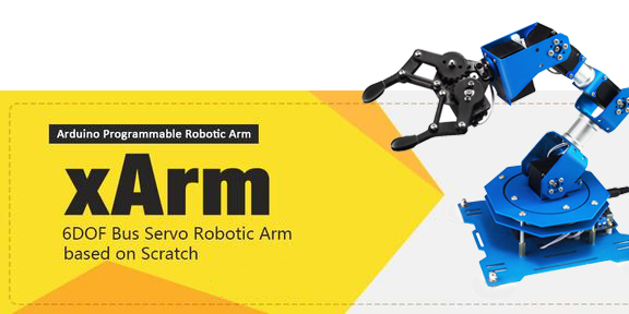 xArm 6DOF Robot Arm with Bus Servo on Scratch Arduino Programmable Robotic Arm